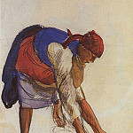 Zinaida Serebryakova - The peasant woman stretched a canvas