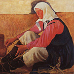 The peasant woman shoes, Zinaida Serebryakova