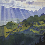 Mountain landscape Switzerland, Zinaida Serebryakova