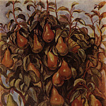 Pears on the branches, Zinaida Serebryakova