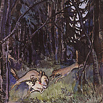 Zinaida Serebryakova - Attacked a goat by gray wolves