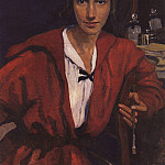 Self-portrait in red, Zinaida Serebryakova