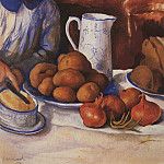 Katya at the kitchen table, Zinaida Serebryakova