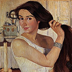 For toilet. Self-portrait, Zinaida Serebryakova