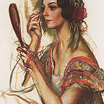 Zinaida Serebryakova - In the dressing room V. K. Ivanova portrait dressed as a Spanish