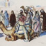 Zinaida Serebryakova - The market with camels Marrakesh