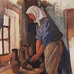 Zinaida Serebryakova - The peasant woman with pots