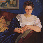 Portrait of daughter of the composer E. F. Napravnin, Zinaida Serebryakova