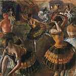Ballerinas in the restroom, Zinaida Serebryakova