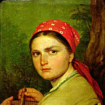 Alexey Venetsianov - Girl with a Birch-Bark Jar