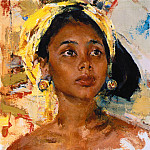 Nikolay Feshin - Girl from Bali (After 1938)