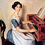 Pavel Fedotov - Nadezhda P. Zhdanovich at the Piano
