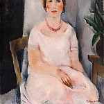 Portrait of a Woman in a Pink Dress, Vera Rockline