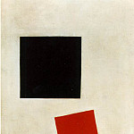 Kazimir Malevich - Malevitj Black Square and Red Square 1915, Moma NY