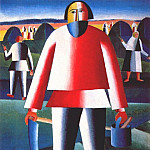900 Classic russian paintings - malevich_haymaking_c1927-9