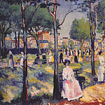 Alexander Ivanov - malevich_on_the_boulevard_dated-1903