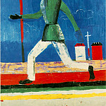 Kazimir Malevich - Malevitj Running Man 1932-34 Oil on canvas (79 x 65 cm.) Mus
