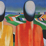 Boris Grigoriev - malevich_two_peasants_1928-32