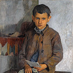 The little messenger, Nikolai Petrovich Bogdanov-Belsky