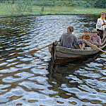 On the lake, Nikolai Petrovich Bogdanov-Belsky