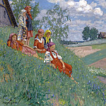 Nikolai Petrovich Bogdanov-Belsky - Children In A Meadow
