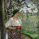 Peasant woman by a brook, Nikolai Petrovich Bogdanov-Belsky