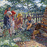 Nikolai Petrovich Bogdanov-Belsky - Children Playing the Balalaika