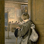 At the Door of the School