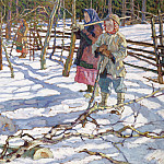 The young hunters at the bear, Nikolai Petrovich Bogdanov-Belsky