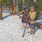 Nikolai Petrovich Bogdanov-Belsky - Children in a Wintry Forest