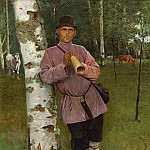 Nikolai Petrovich Bogdanov-Belsky - Watching over the herd