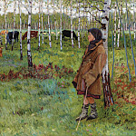 Daydreaming among the birches, Nikolai Petrovich Bogdanov-Belsky