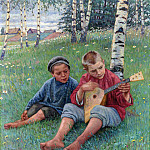 The first lesson, Nikolai Petrovich Bogdanov-Belsky