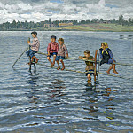 Nikolai Petrovich Bogdanov-Belsky - Children On The Lake