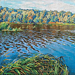 View of the lake, Nikolai Petrovich Bogdanov-Belsky