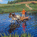 Nikolai Petrovich Bogdanov-Belsky - Crossing the River