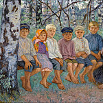 Children On A Bench, Nikolai Petrovich Bogdanov-Belsky