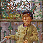 Little boy on a chair, Nikolai Petrovich Bogdanov-Belsky