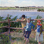 Nikolai Petrovich Bogdanov-Belsky - Children By A Lake