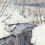 Nikolai Petrovich Bogdanov-Belsky - Stream in Winter