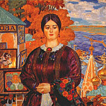 Boris Kustodiev - kustodiev_merchants_wife_1915