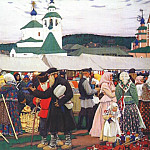 Boris Kustodiev - kustodiev_the_fair_1906