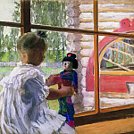 Boris Kustodiev - Japanese doll