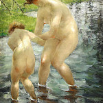 Vitaly Gavrilovich Tihov - Bathing Mother and Child