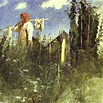 Ivan Kramskoy - Kramskoi_Girl_with_Washed_Linen_on_the_Yoke