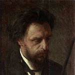 1872 Portrait of the Artist Grigory Myasoyedov, Grigory Myasoyedov
