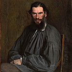 Ivan Kramskoy - Portrait of the Writer Leo Tolstoy
