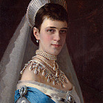 Ivan Kramskoy - Portrait of Empress Maria Fyodorovna in a Head Dress Decorated with Pearls