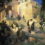 Vasily Polenov - Christ and the Sinner