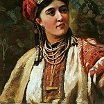 Konstantin Makovsky - Girl in national costume